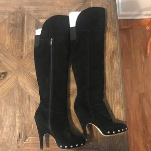 Black Suede Dolce Vita Knee High Boots, Size 9